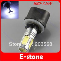 1pcs High Power Car Vehicle LED Xenon White Driving Fog Light Lamp Bulb 7.5W SMD 880