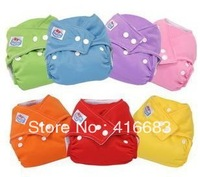 2013Fast Delivery cloth nappy,Reusable Washable Baby Cloth Nappies Nappy Diapers 5 diapers+10 insert babyland diaper 7 color cho