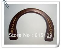"FREE SHIPPING 6.5""*4.5""  fashion  wholesale wood handbag handles pair with machine laser followers"