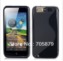 Free ship 20pcs for Motorola Atrix HD 4G LTE MB886 S Line Soft Cover, MB886 TPU silicon Skin back cover(China (Mainland))