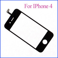 DHL Freeshipping 100pcs/lot Black and White Replacement  LCD Touch Screen For Apple IPhone 4