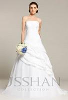 12W033 Strapless Pleated Tiered Pick-ups Taffeta Princess Elegant Gorgeous Bridal Wedding Dress Wedding Dresses Free Shipping