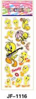 20 Sheets Combo Deal, Free shipping  TY0034 Tweety Bird Stickers, Soft Vinyl Plastic Stickers, Yelow Bird Sticker  Wholesale