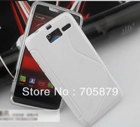 Free ship 20pcs for Motorola RAZR M XT907 4G LTE RAZR i XT890 S Line Soft Cover,TPU silicon Skin back cover