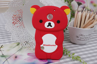 3D Rilakkuma Bear Silicone Skin Case For Huawei Ascend II M865  U8651  C8650  10PCS/LOT