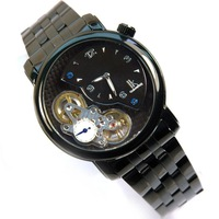 Ik full black double movement male fully-automatic mechanical watch 2010 men's watch