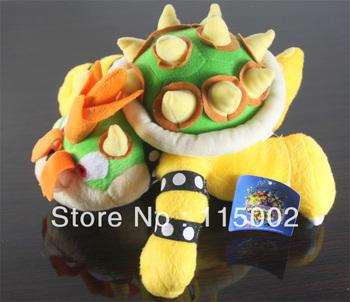 "Super Mario plush toys 10"" int Koopa Bowser dragon plush doll  Brothers Bowser soft Plush"