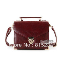 new 2013 Freeshipping new fashion normic metal red messenger bags vintage small women leather handbags cross-body women handbag