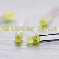 Free shipping 3mm Yellow Diffused LED LBT30Y1D-EHC-B 1.9~2.3V 200~350mcd 60deg