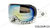 Free shipping 2013 all weather Super mirror Ski goggles Dual PC lens UV portecting ski & riding goggles OK926