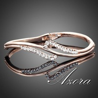 18K Rose Gold Plated Stellux Austrian Crystal Bangle Bracelet FREE SHIPPING!(Azora TB0005)