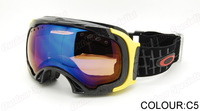 Free shipping 2013 all weather Unisex Snowboard Ski Goggle Double Lens AntiFog UV400 Protection CE Snowing Goggles OK927-1