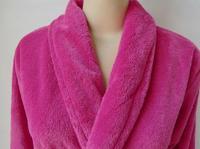 Coral fleece pajamas coral fleece gown bath robe female fuschia