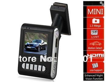 "Free shipping + Car dvr 2014 K1W 1.5"" TFT Screen 1080P High-definition Vehicle Black Box DVR (Black)"