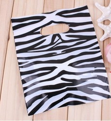 Black Zebra Strip Pattern POly bag/Cartoon packaging bag , Jewelry bag, Merchandise Bag 18*23cm(China (Mainland))