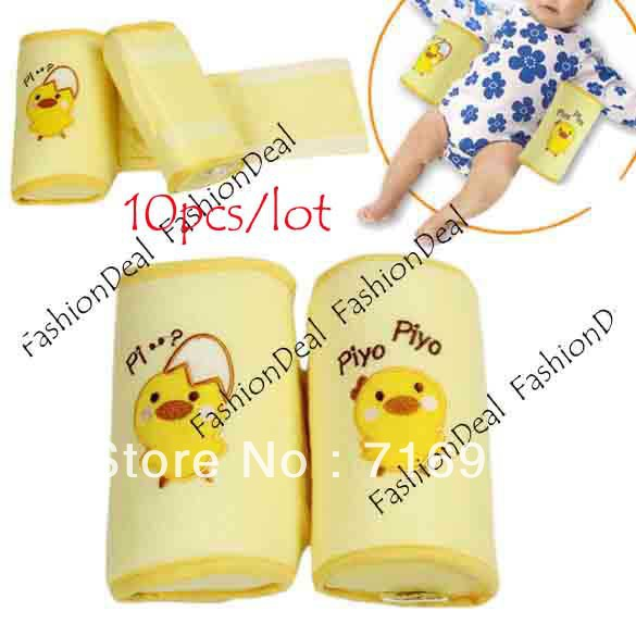 10pcs/lot 2013 New Cute Toddler Safe Anti Roll Baby Pillow Sleep Head Positioner Yellow Free Shipping 3996(China (Mainland))