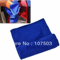 30x 30cm Microfiber Towel Car Cleaning Wash Clean Cloth Blue + Free Shipping 8349