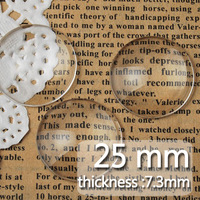 25MM/1 Inch  Round Flat Back clear Crystal glass Cabochon,Top quality;clear cabochon title;sold as 100pcs per package