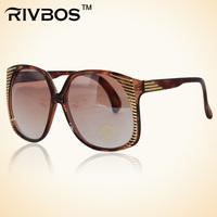 Rivbos vampish women's sun glasses anti-uv fashion big frame glasses t90017