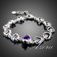 AZORA Platinum Plated Stellux Austrian Crystal 11pcs Coccinella Septempunctata End to End Bracelet TS0006