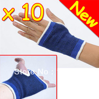 New 10 Pairs Elastic Wrist Brace Support Palm Wrap Guard Protector Badminton gloves Bicycle Protection palm+ Free Shipping