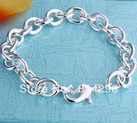 Free  shipping   Fashion 925 silver bracelet with men and women bracelet