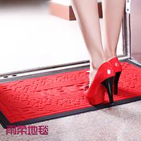 Mats doormat outdoor slip-resistant plastic rubber doormat with WELCOME words 50*80cm