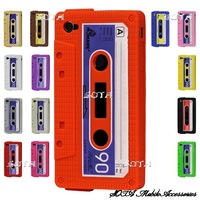 Cassette Tape Silicon Case for iPhone 4 4S Free Shipping