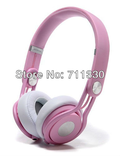 Lovely sexy warm pink new ultra-flexible easy take powerful DJs headset free shipping top quality brand pack Professional MIXR(China (Mainland))