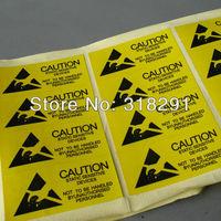 2.5 * 5.5cm anti-static labels / warnings identification sticker paper,100pcs/lot