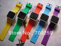 5pcs silicone LED mirror watch  EG-SLE100 rubber silicone wrist watches for kids square watch women