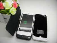 10pcs/lot 2200mAh External Rechargeable Backup Power Charger Battery Case with front cover for iPhone 5