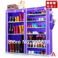 Hot sale New arrive 2013 Purple Adjustable Shoe Storage / Ten Layer Shoe Cabinet /Non-woven& dustproof shoes rack Model A, B, C