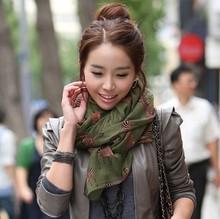 2014 new fashion zebra women's silk scarf (4color mix)(China (Mainland))