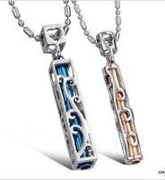 Fashion Hollow Out Titanium Steel Couples Necklace  1 pair