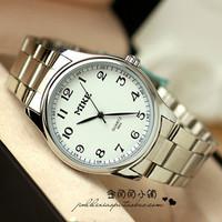 Original Mike vintage simple number steel analog quartz  dress watches for Elderly/Parent  men/women  commercial wristwatch