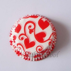 300 pcs red heart wedding baking cups for Valentine's Day FREE SHIPPING(China (Mainland))