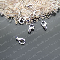 (2590)Fashion Jewelry Findings,Accessories,charm,pendant,Alloy Imitation Rhodium 12*5MM 502 Lobster Clasp 100PCS