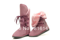 Free Shipping Fashion Women's Knot Snow Boots 5818 Australia Designer Winter Boots. Size:5-10