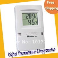Drop shipping High Precision LCD Display Digital Thermometer and Hygrometer HX-809 free shipping