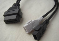 2 * 2 Pin to 16 Pin for Audi OBD2 to 2*2 Cable free shipping