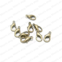 (10053)Fashion Jewelry Findings,Accessories,charm,pendant,Alloy Antique Bronze 12*5MM 502 Lobster claw clasp 100PCS