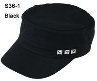 Special Cheap 5  Colors NEW Metal Rivets Sports Army Caps Womens Fashion Visors Lady Military Hats Fashion Men Hat Brim Cap S36
