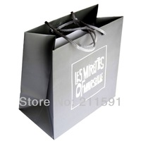 Custom 210 gsm 500 pcs/lot  Printed Packaging Bags / Paper Bags with Handles for GIft / Promotion