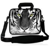 """White Flower  10""""Laptop Carrying Bag Sleeve Case Cover w/Side Pocket +Shoulder Strap For 9.7"""" -10.2"""" Laptop Tablet PC"""