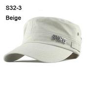 2014 Special Cheap COOL 10pcs Metal SPORTS Caps Women Fashion Visors Ladies Military Hats Fashion Mens Hat Visor Cap Beige S32