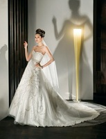 High Standard quality  Sweetheart A-line Gown with Full Beading  Wedding dress Bridal Gown Custom Siz/Color Wholesale/Retail