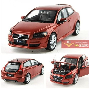 Volvo C30 1:24 Alloy Diecast Model Car Toy collection deep red with box Toy Collecion B1604