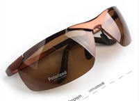 Free shipping Fashion UV protection brand men's polarized sunglasses