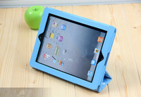 Hot selling cheapest  case, Sleep mode, Foldable dot cover for iPad 3 and iPad 2, iPad 4, mix colors